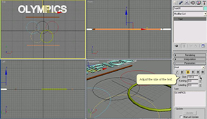 Olympics exercise_3dmax_development